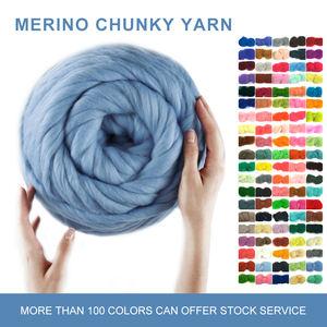 Chất Lượng cao HOYIA tay đan top siêu chunky khổng lồ dệt merino len sợi pha trộn