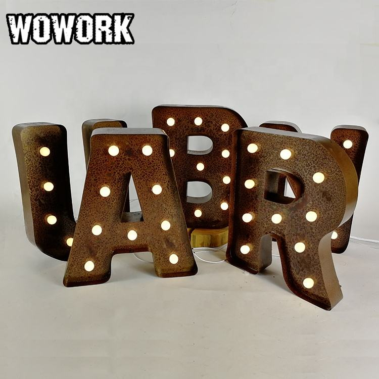 2020 WOWORK direct manufacture festival marquee letter sign light for advertising outdoor using