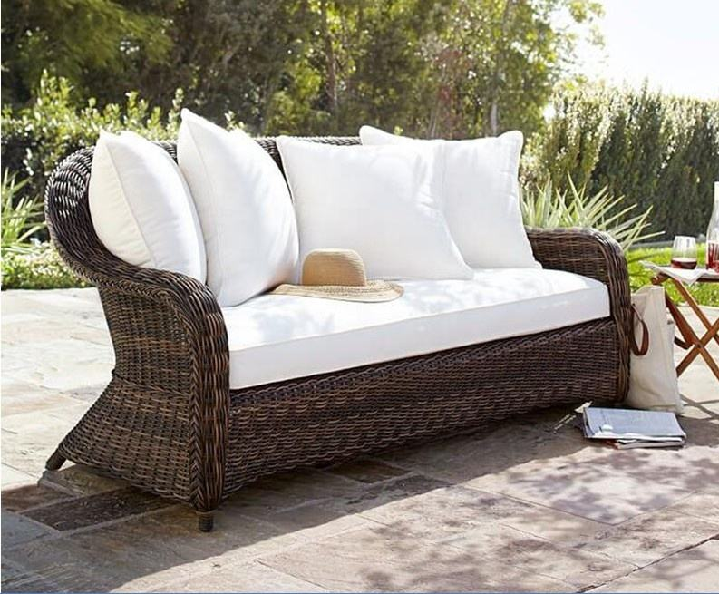 Modern designs outdoor living garden wicker sofa club chair couch bench