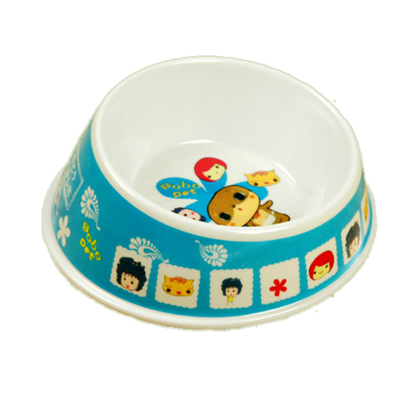 Melamine Pet Bow Dog Bowl Plastic Pet Bowl