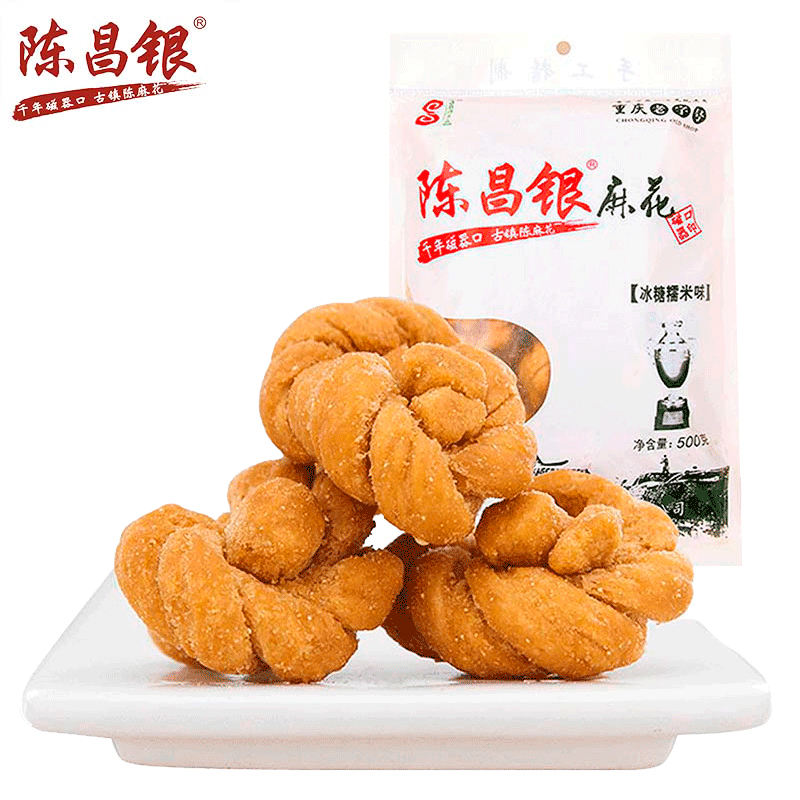 Chinese Chen twist traditional hot sale crystal sugar flavor fried dough twist snack food
