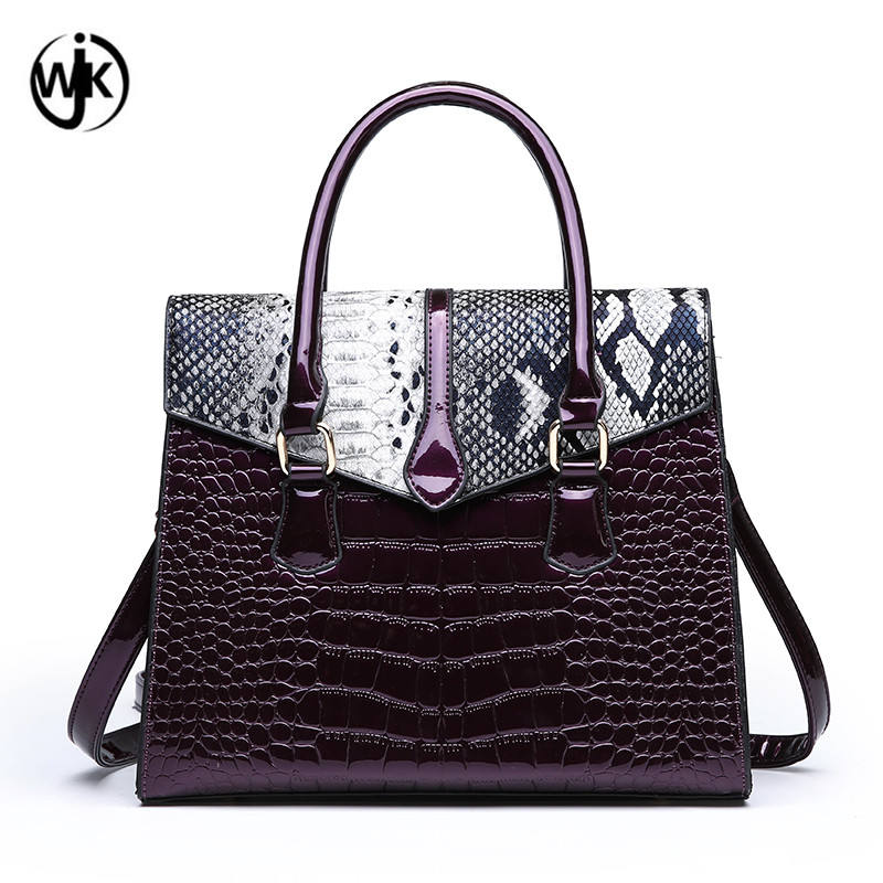 2019 promotion summer design portable handbag crocodile skin tote bag fashion women handbag shoulder bag