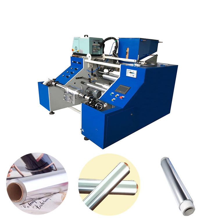 Automatic Aluminum Foil Roll Rewinder,Automatic House Foil Roll Slitter Rewinding Machine