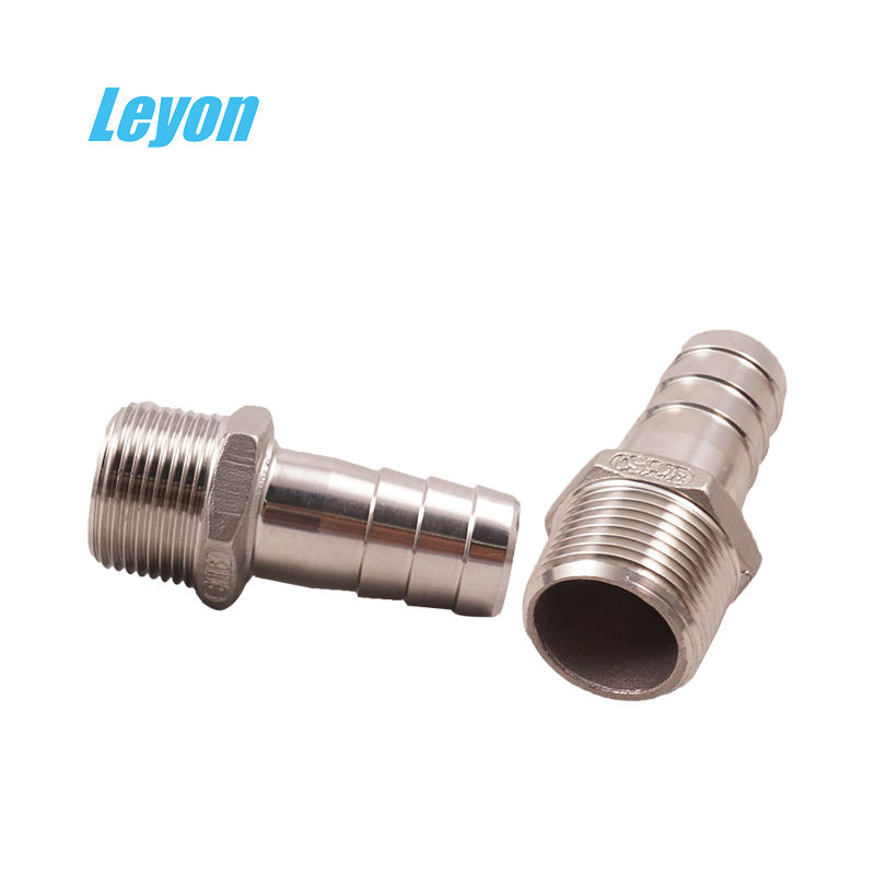 high quality stainless steel hydraulic pipe fittings ss304 ss316l pipe fitting stainless steel pipe double hose nipple