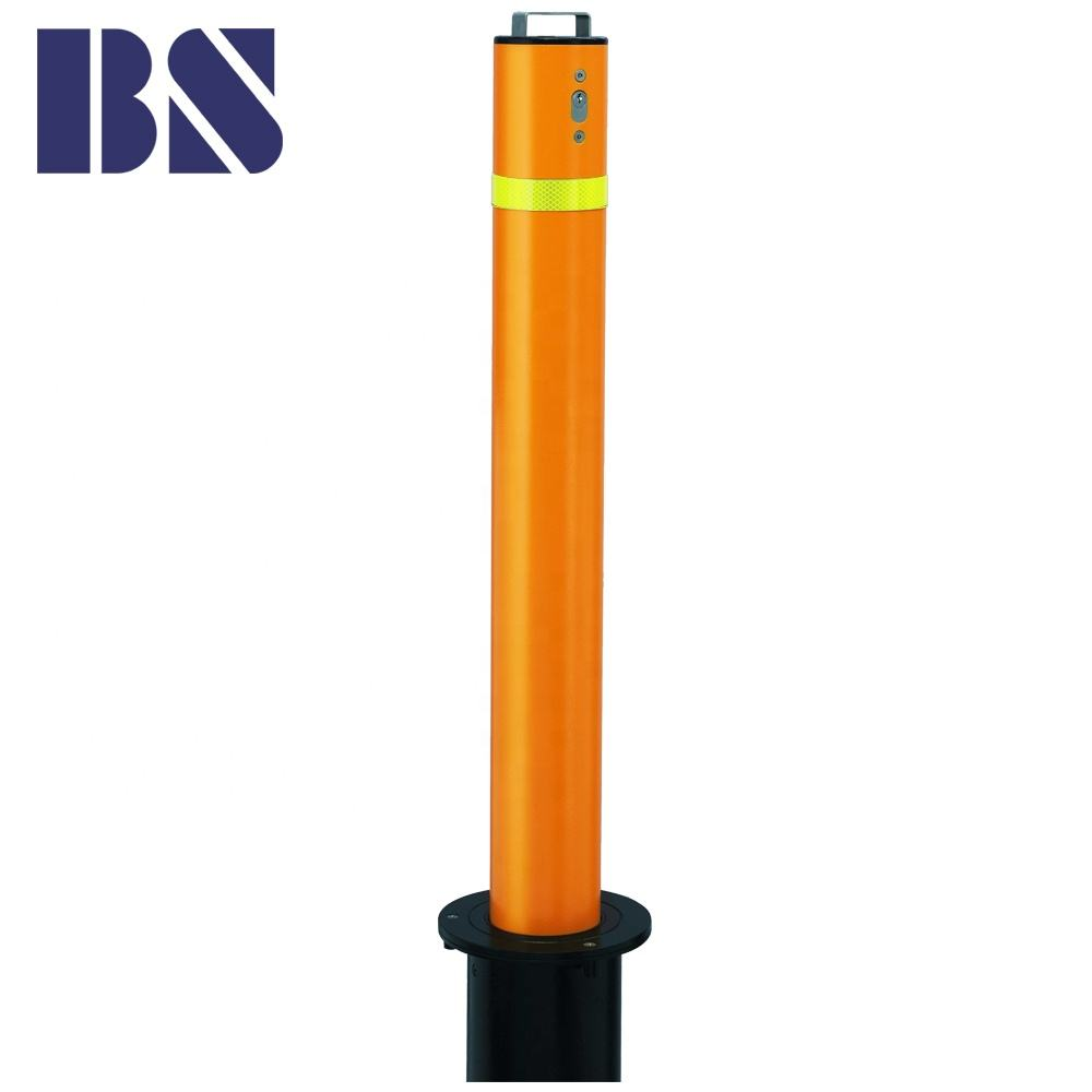 114 900 Steel Pipe Clamp Manufacturing Retractable Bollard Manual Security Bollard Road Barrier Post Safety Barrier Post
