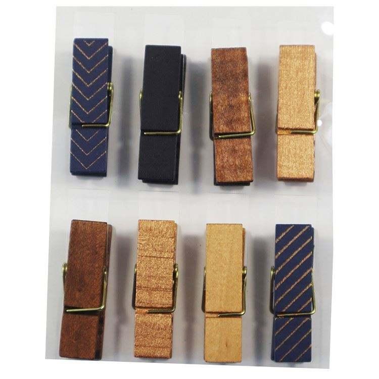 Пользовательские печатные деревянные маленькие колышки для одежды pin
