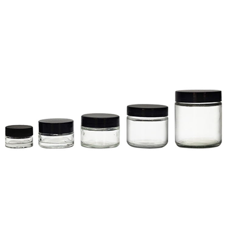 Custom Made Round Candle Glass Jar 1/2oz 2oz 4oz 6oz 8oz 12oz 16oz Glass Cosmetic Jar Straight Side Glass Jar with Lid