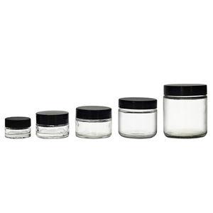 Custom Made Round Candle Glass Jar 1/2oz 2oz 4oz 6oz 8oz 12oz 16oz Glass Cosmetic Jar Straight Side Glass Jar with Lid