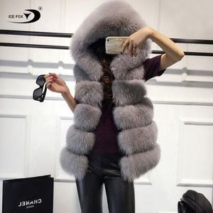 2020 High Quality Accept OEM Cheap Winter Women Long Faux Fur Vest with Hood