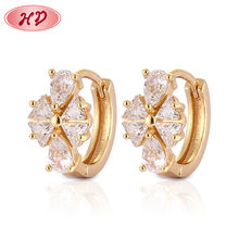 2019 Fashion bijouterie manufacturer wholesale fine gold jewelry, 18k gold plated gold earrings samples