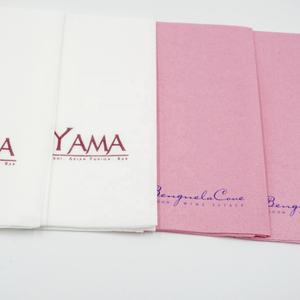 Fancy Custom Printed Decorative Colored Airlaid Rice Recycled Paper Napkins Tissue Sizes For Restaurants With Logo Print