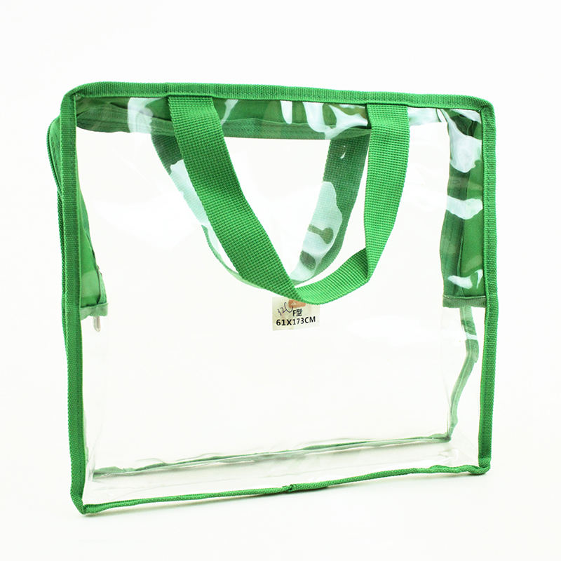 High Quality Custom Clear Vinyl Transparent PVC Gusset Bag Plastic Tote Shopping bag for Packaging