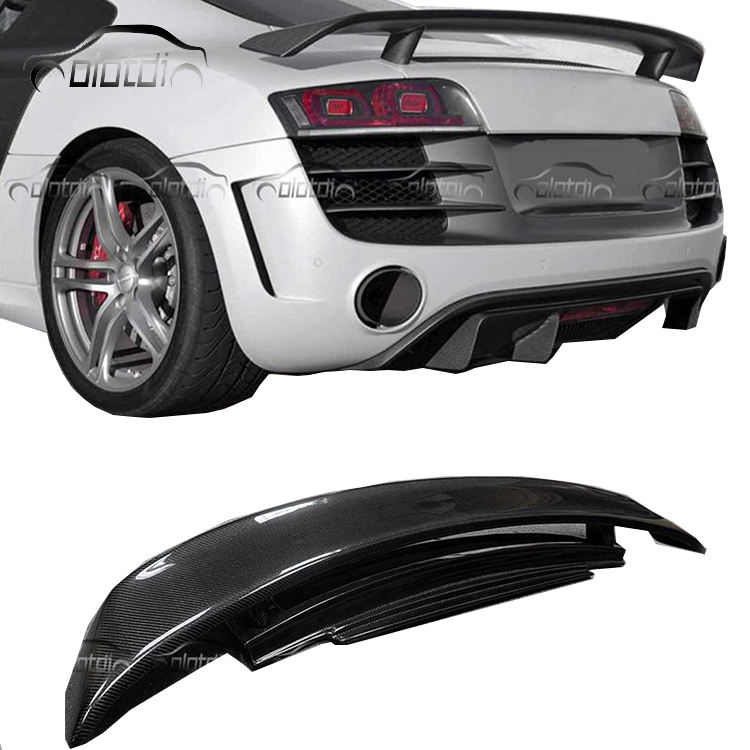 R8 GT Style Carbon Fiber car rear roof spoiler Splitter Wing for Audi R8 V8 V10 2007-2016