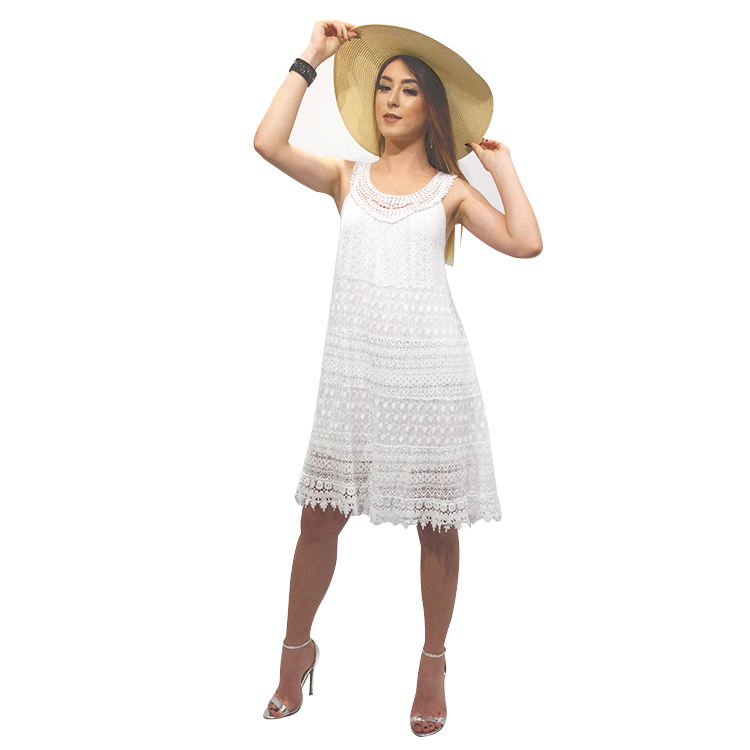 2019 Italy Fashion Style Sexy White Lace Long Dress Woman New Fantasy Pronto Moda