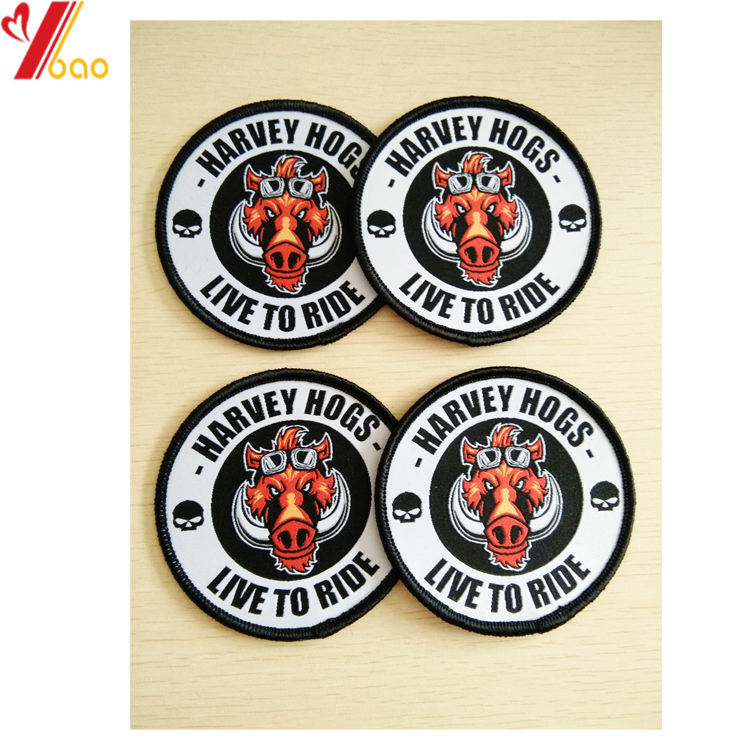 China patches manufacturer custom complicated design Embroidered Woven patch for T shirts