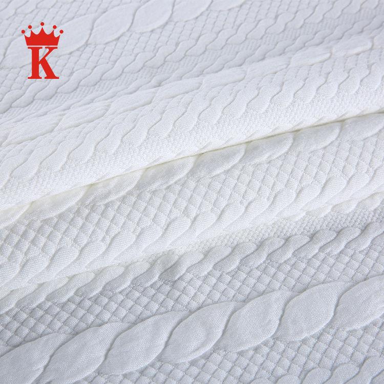 Thanh lịch trắng thổ cẩm elastane blend bông polyester vải cho áo len