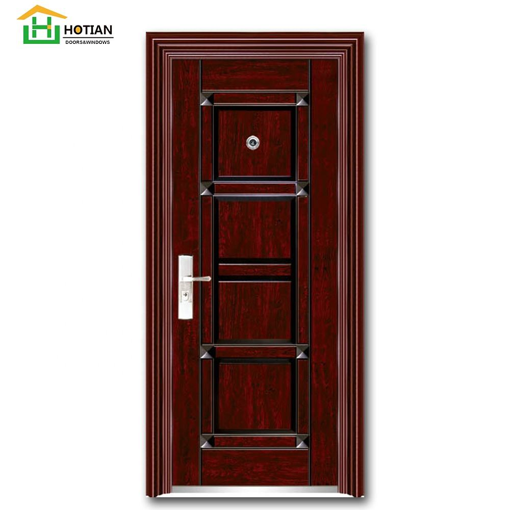 Home use steel lowes wrought iron exterior entry doors heat transfer steel doors for sales