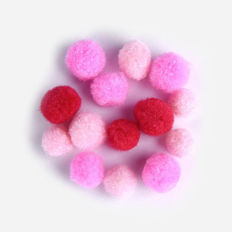 De moda al por mayor rosa de poliéster/algodón/poliamida pompón artesanía Pom Poms
