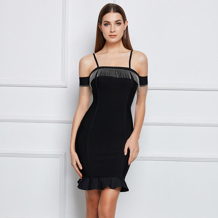 Nieuwe Aanbieding Bandage Jurk Vrouwen Hoge Elasticiteit Mode <span class=keywords><strong>Prom</strong></span> Sexy Bodycon Jurk