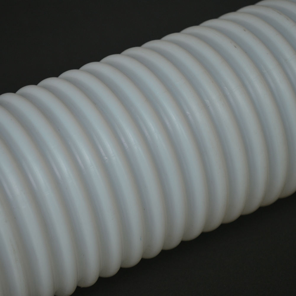 12 x 14 mm China Natural Clear White Virgin Extruded PTFE Pipe Bellows Corrugated Convoluted PTFE Tube