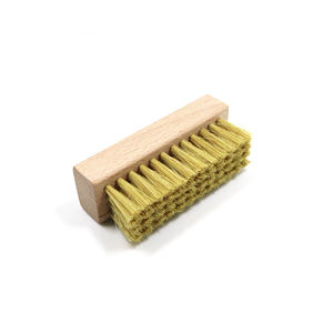 Cleaning natural soft pig hair golf wooden shoe brush