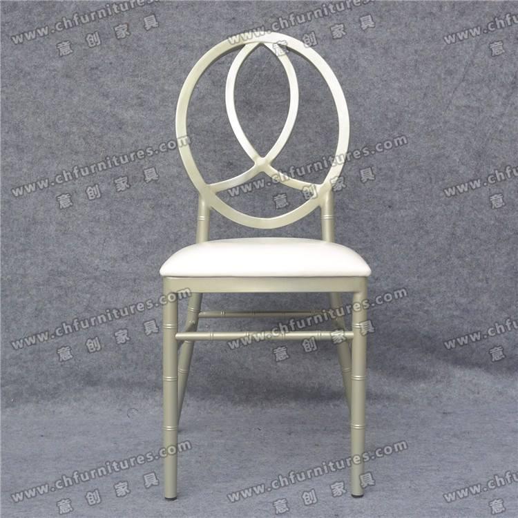 Haute <span class=keywords><strong>qualité</strong></span> champagne phoenix chaise rembourrée en aluminium pour l'événement
