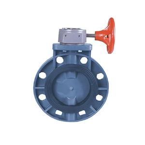 all uses Double flange upvc pvc water butterfly valve