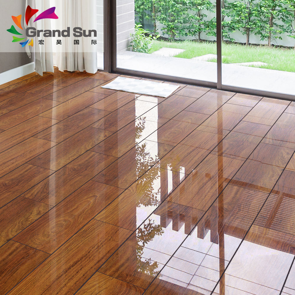 Japan natural wood piano surface laminate flooring made in China