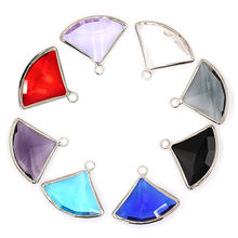 Sector Silver Gemstone Pendants for Jewelry Making Earring Accessories