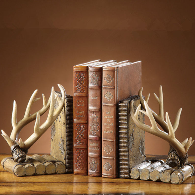 Vintage Antique Deer Decorative Custom Wholesale Resin Bookend