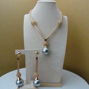 Yuminglai FHK6106 Costume Fashion Dubai Jewelry Accessories Pearl High Quality Gold Plated Ladies Jewelry Sets
