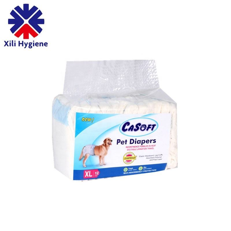 Wholesale Disposable Pet diaper Supply Super Absorbent Soft Disposable Female and male Dog Diapers