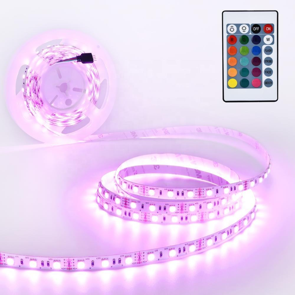 Outdoor Christmas Cuttable 1M 2M 5M 300leds Waterproof 5050 RGB Led Tape Ribbon Strip Light
