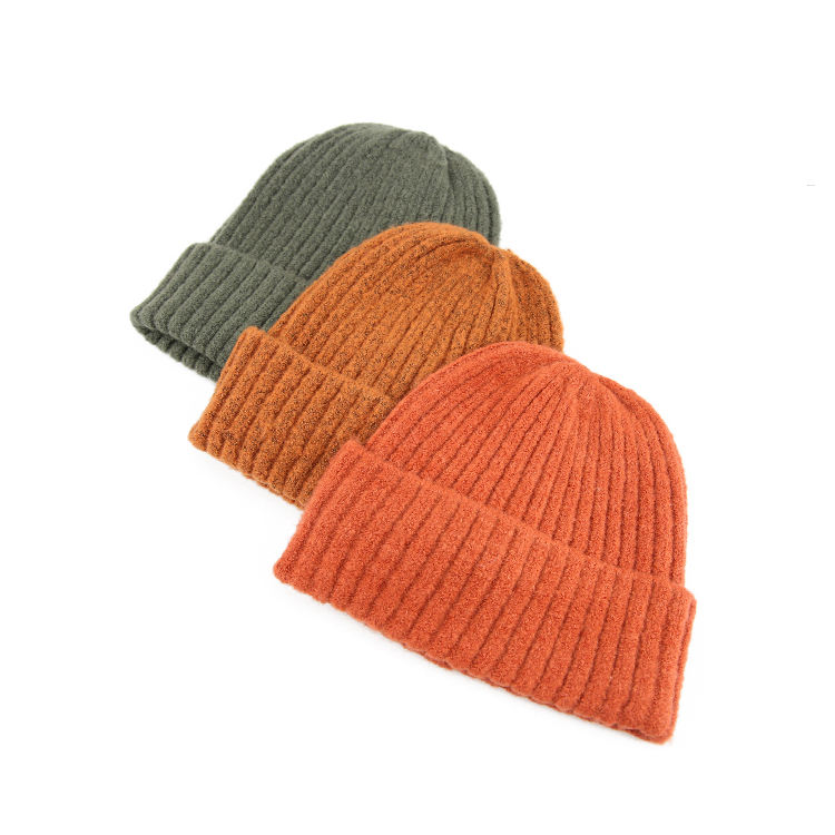 wholesale oversized crochet custom winter knitted beanie hat