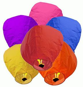 Biodegradable customized printed festival wedding sky lantern,fireproof flying chinese lantern,kongming lantern