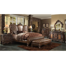 2019 Longhaoluxury royal fancy solid wood home bed room furniture bedroom set