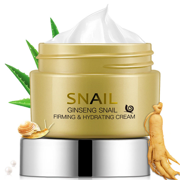 private label ginseng snail skin care moisturizing face cream firming hydrating snail white cream