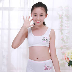 Hotsale girl kids first bra sport panty kids bra