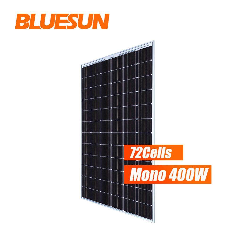 Bluesun greenhouse with solar panel bipv 380W 390W 400W price per watt solar panels