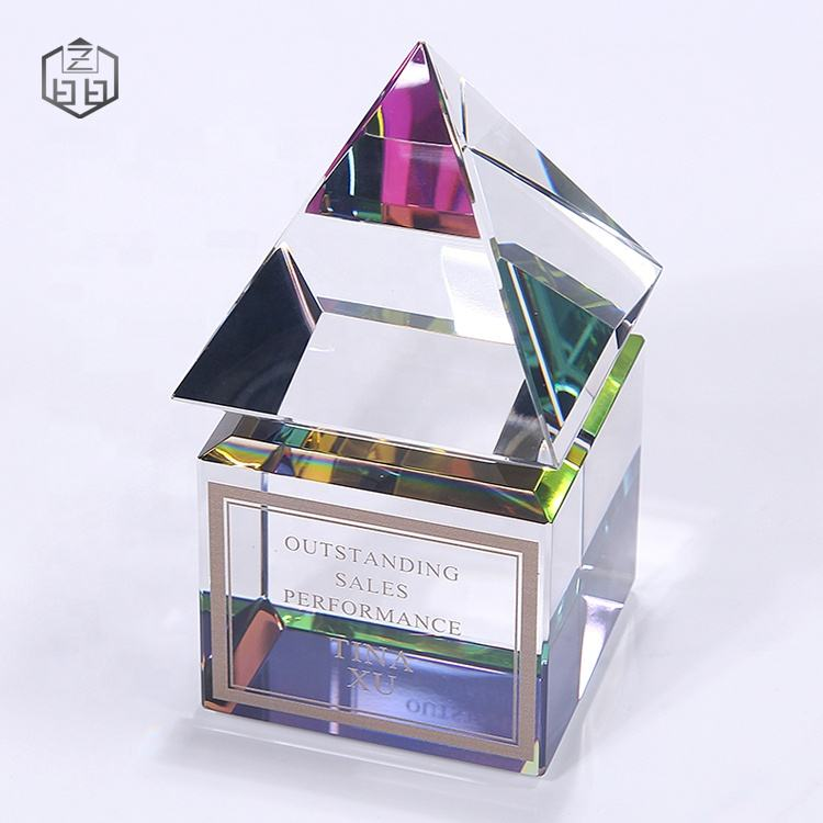 Creative Customize Pyramid Small Souvenir Music Dance Excellence Award Crystal Gifts