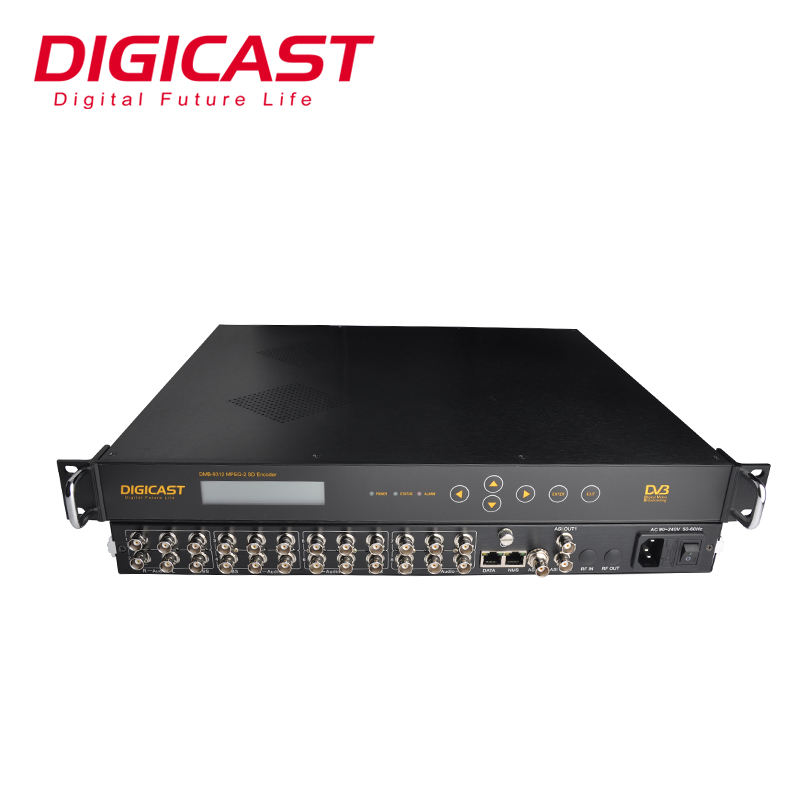 CATV Aplikasi 8 * CVBS AV ASI Video MPEG-2 SD Encoder Mengubah Analog Audio untuk IP RTP Encoder IPTV Encoder