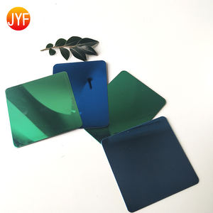 JYF114 custom stainless steel product decorative 0.3mm Thick 8k Green Stainless Steel Sheet