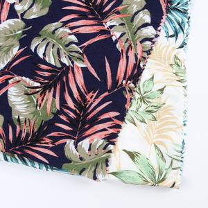 Tropical viscose printed tecido soft crepe rayon dress fabric composition