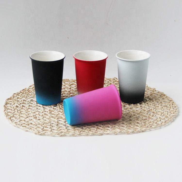 Fábrica equipada característica y el nuevo hueso china con esmalte Taza de cerámica sin mango