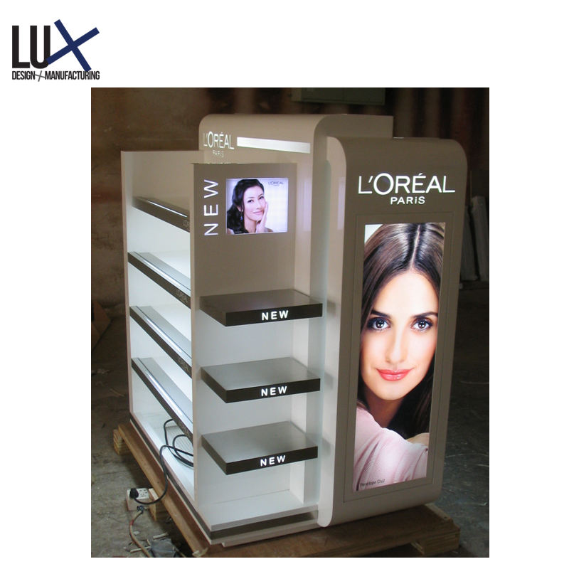 Pop up Beauty Products Display Shelf/stand, Cosmetic Makeup Display Stand