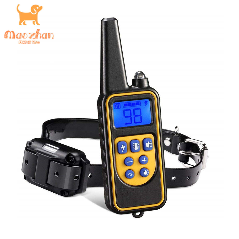 Hot Rechargeable And Rainproof Pet Training Device Remote Dog Bark Electric Training Collar