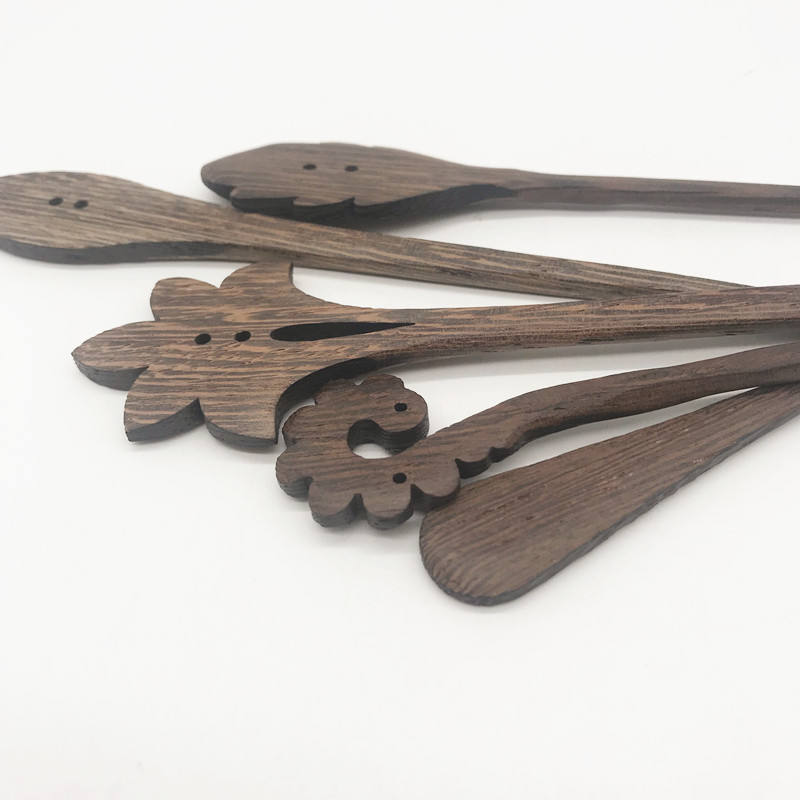Natural wooden hand made by Wenge hair pins