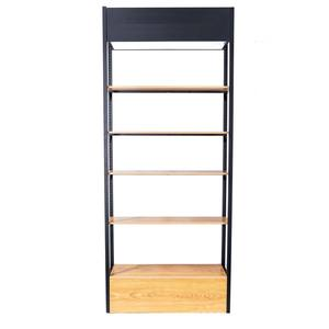 Holz 5 tier mode einstellbare ohrring kaffee spinning boden display rack