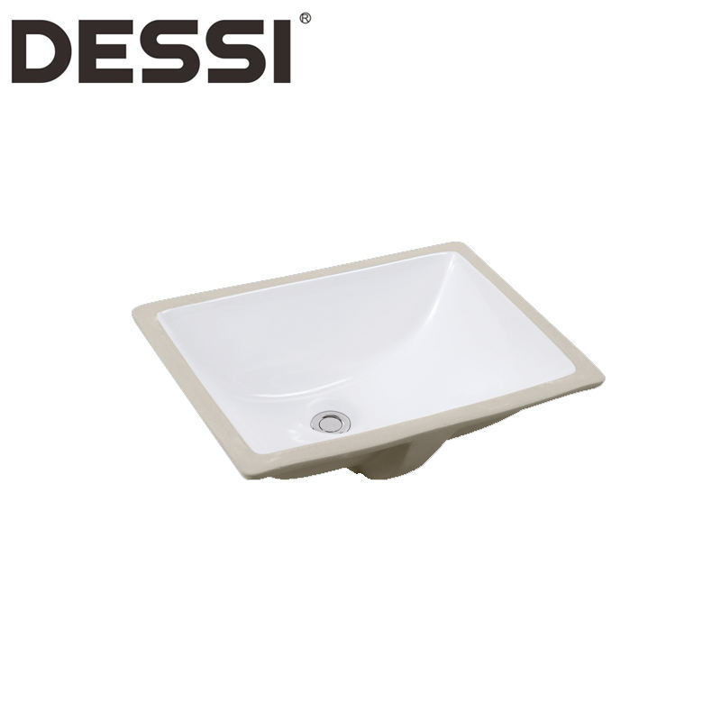Venta al por mayor barato rectangular de cerámica blanca undermount fregadero de la cocina