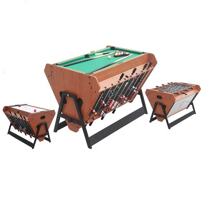 Pivotant 3 En 1 Sports D'intérieur Jeu Billard Table de Billard/Table De Hockey Sur Air/Football Table de Jeu